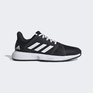CourtJam Bounce Schuh Core Black / Cloud White / Matte Silver EG1136