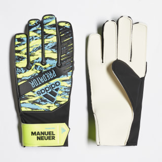 Brankárske rukavice Predator Manuel Neuer Young Pro Solar Yellow / Bright Cyan / Black DY2626