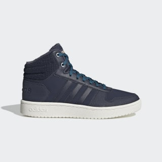Утепленные кроссовки Hoops 2.0 Mid trace blue f17 / trace blue f17 / active teal EE7875