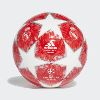 Pelota Capitano Finale 18 Real Madrid WHITE/SILVER MET./REAL CORAL S18/VIVID RED CW4140