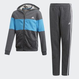 Trainingsanzug Dark Grey Heather / Shock Cyan / Grey Six / White DV1747
