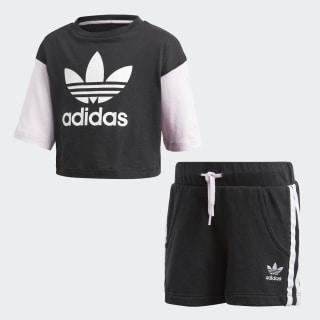 Conjunto Shorts y Camiseta BLACK/WHITE CE1130