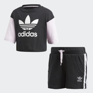 Conjunto Shorts y Playera BLACK/WHITE CE1130