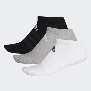 Socquettes Cushioned (3 paires) Medium Grey Heather / White / Black DZ9383