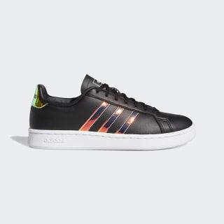 Grand Court Shoes Core Black / Cloud White / Dash Green FW0137