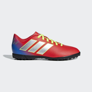 CHUTEIRA NMZ MESSI 18 4 TF JR active red/SILBER-FOIL/football blue CM8642