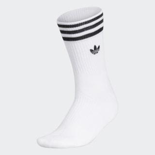 3-Stripes Welt Mid-Crew Socks White CM3954