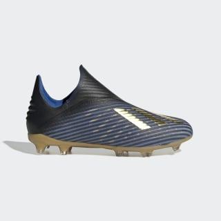 Bota de fútbol X 19+ césped natural seco Core Black / Gold Met. / Football Blue EE3695