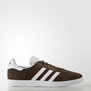 Gazelle Shoes Brown / Cloud White / Gold Metallic BB5254