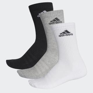 3-Stripes Performance Crew Çorap Black / Medium Grey Heather / White AA2299