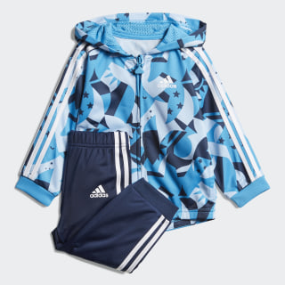 Shiny Jogger Set Clear Sky / Shock Cyan / Collegiate Navy / White DV1241