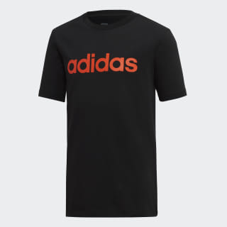 Polera Essentials Linear Logo black / active orange DV1817