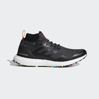 SHOES - LOW (NON FOOTBALL) ULTRA BOOST MID core black / core black / energy G26841
