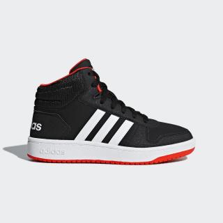 Высокие кроссовки Hoops 2.0 Mid core black / ftwr white / hi-res red s18 B75743