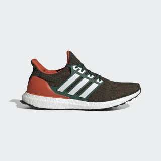 UltraBOOST NCAA Shoes dark green / ftwr white / collegiate orange EE3702