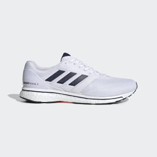 Adizero Adios 4 Ayakkabı Cloud White / Collegiate Navy / Solar Orange EF1461