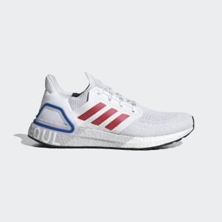 Ultraboost 20 Seoul Shoes Cloud White / Glory Red / Team Royal Blue FX7813