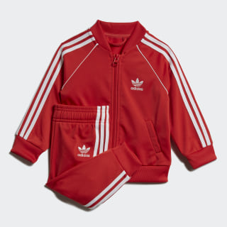 SST Tracksuit Lush Red / White FM5585