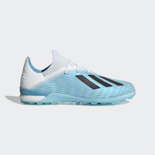 X 19.1 Turf Shoes Bright Cyan / Core Black / Shock Pink F99999