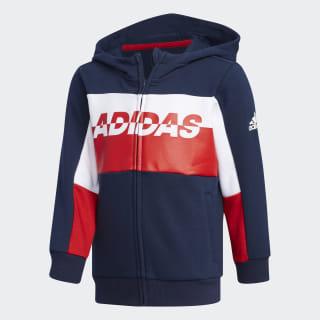 Football Track Jacket Collegiate Navy / White / Scarlet EH4046