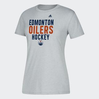 Oilers Hockey Tee Nhl-Eoi-5bz / Medium Grey Heather DP7754