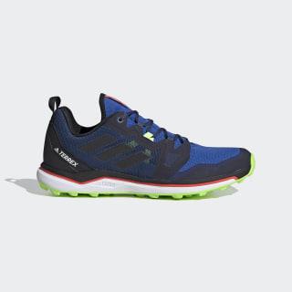 Zapatilla Terrex Agravic Trail Running Glory Blue / Core Black / Signal Green FV4577