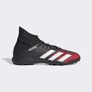 Botas de Futebol Predator 20.3 – Piso sintético Core Black / Cloud White / Active Red EF2208