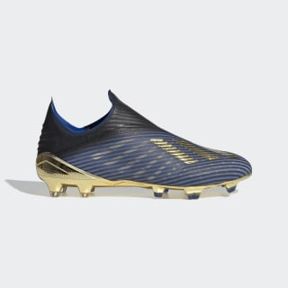 Футбольные бутсы X 19+ FG core black / gold met. / football blue F35320