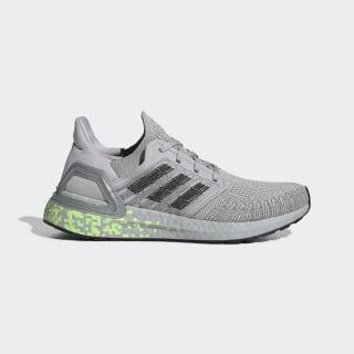 Кроссовки для бега Ultraboost 20 Grey Two / Core Black / Signal Green EG0723