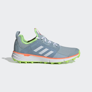 Terrex Speed LD Trail Running Shoes Ash Grey / Cloud White / Signal Green EF2175