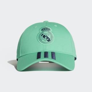 Kšiltovka Real Madrid 3-Stripes Hi-Res Green / Night Indigo / White DY7722
