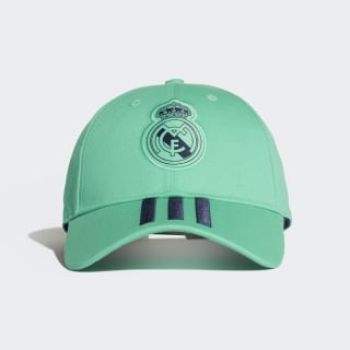 Real Madrid 3-Streifen Kappe Hi-Res Green / Night Indigo / White DY7722