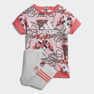 Комплект: платье и леггинсы Dress light pink / prism pink / clear mint / white DV1251