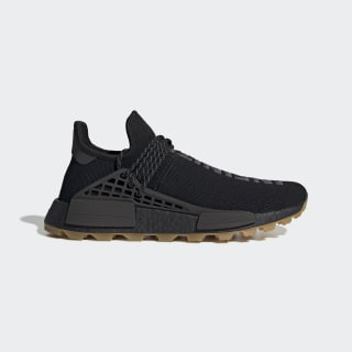 Pharrell Williams Hu NMD Shoes Core Black / Utility Black / Gum EG7836