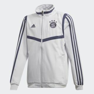 FC Bayern Presentation Jacket Lgh Solid Grey / Trace Blue EJ0964
