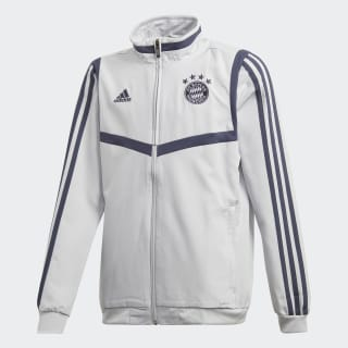 FC Bayern Presentation Jacket Lgh Solid Grey / Trace Blue EJ0964