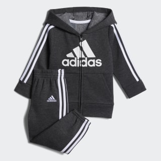 Cotton Fleece Jacket Set Black CM5462
