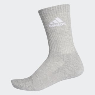 Cushioned Crew Socks Medium Grey Heather / Medium Grey Heather / White DZ9358