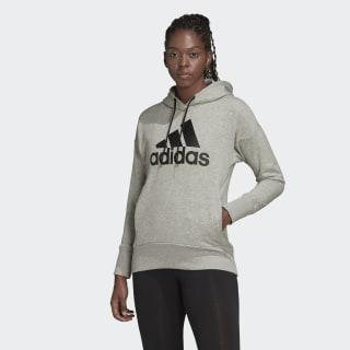 Sudadera con capucha Badge of Sport Long Medium Grey Heather / Black FP7580