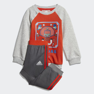 Chándal French Terry Graphic Active Orange / Light Grey Heather / White DV1281
