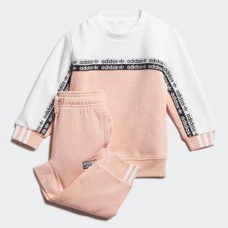 Conjunto Polerón con cuello redondo Glow Pink / White FM5496