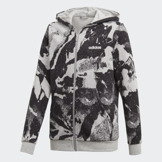Jaqueta Yb E Aop Pr Fz medium grey heather / black / white DV1789