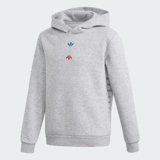 Sweat-shirt à capuche Large Logo Medium Grey Heather / Silver Metallic FT8824