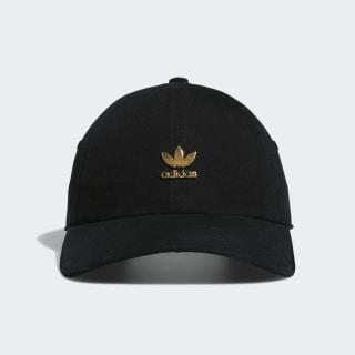Relaxed Metal Strap-Back Hat Black CK2432