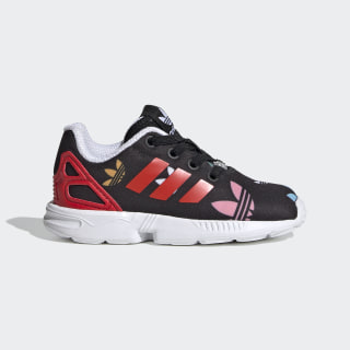 ZX Flux sko Core Black / Lush Red / Cloud White FV3107