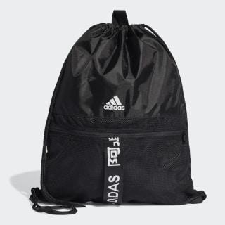 4ATHLTS Gym Bag Black / Black / White FJ4446