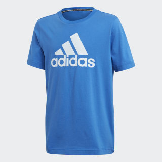 Must Haves  Badge of Sport Tee Blue / Sky Tint FM6458