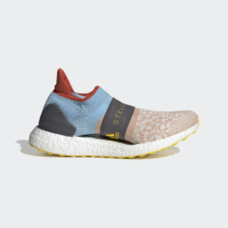 Ultraboost X 3D Knit Shoes Soft Powder / Grey / Vivid Yellow G28337