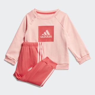 Súprava 3-Stripes Fleece Jogger Glory Pink / Core Pink FM6390