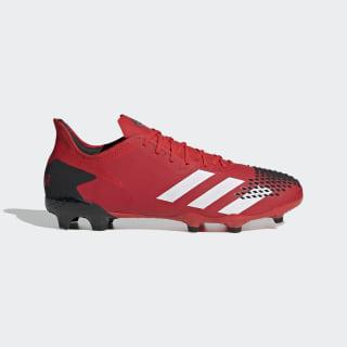 Scarpe da calcio Predator 20.2 Firm Ground Active Red / Cloud White / Core Black EE9553